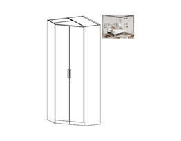 Rivera Hinged 2 Door Corner Wardrobe
