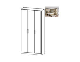 Rivera Hinged 3 Door Wardrobe