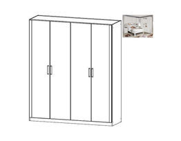 Rivera Hinged 4 Door Wardrobe