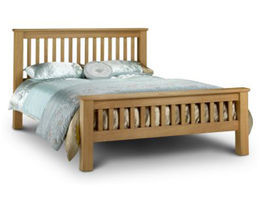 Amsterdam Oak Bed High-Foot-End