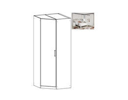 Rivera Hinged Door Corner Wardrobe