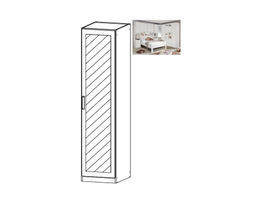 Rivera Hinged Mirrored Door Wardrobe